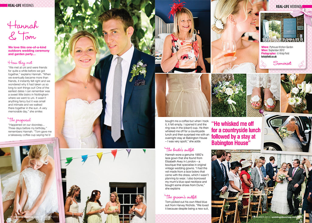 wedding ideas magazine uk featured amp tom s wedding in wedding ideas magazine 28251